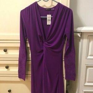 NWT Josie Natori Dress with Appliqué Sleeves
